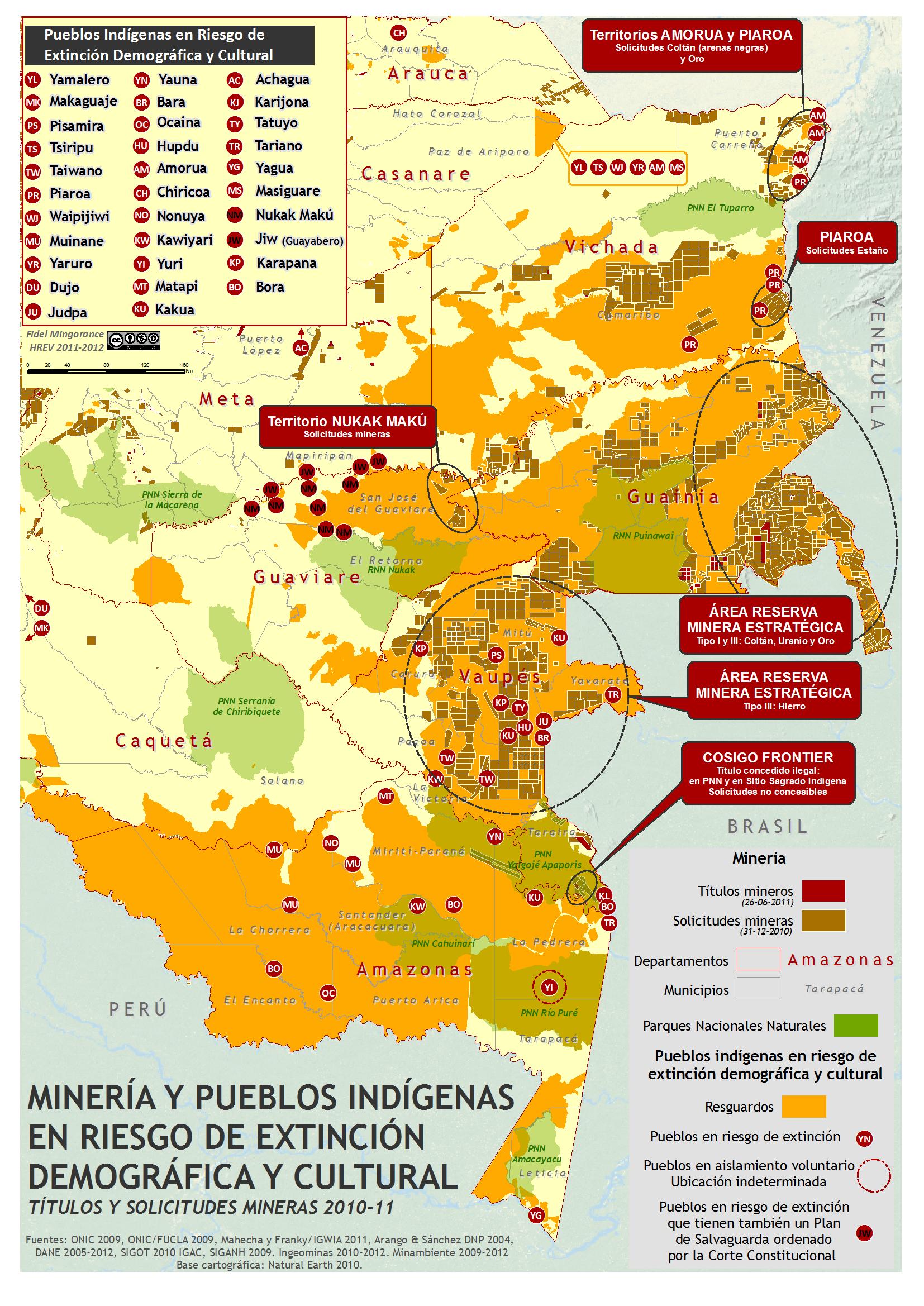 Pueblos indígenas en riesgo y minería (oro+uranio+coltan=…)