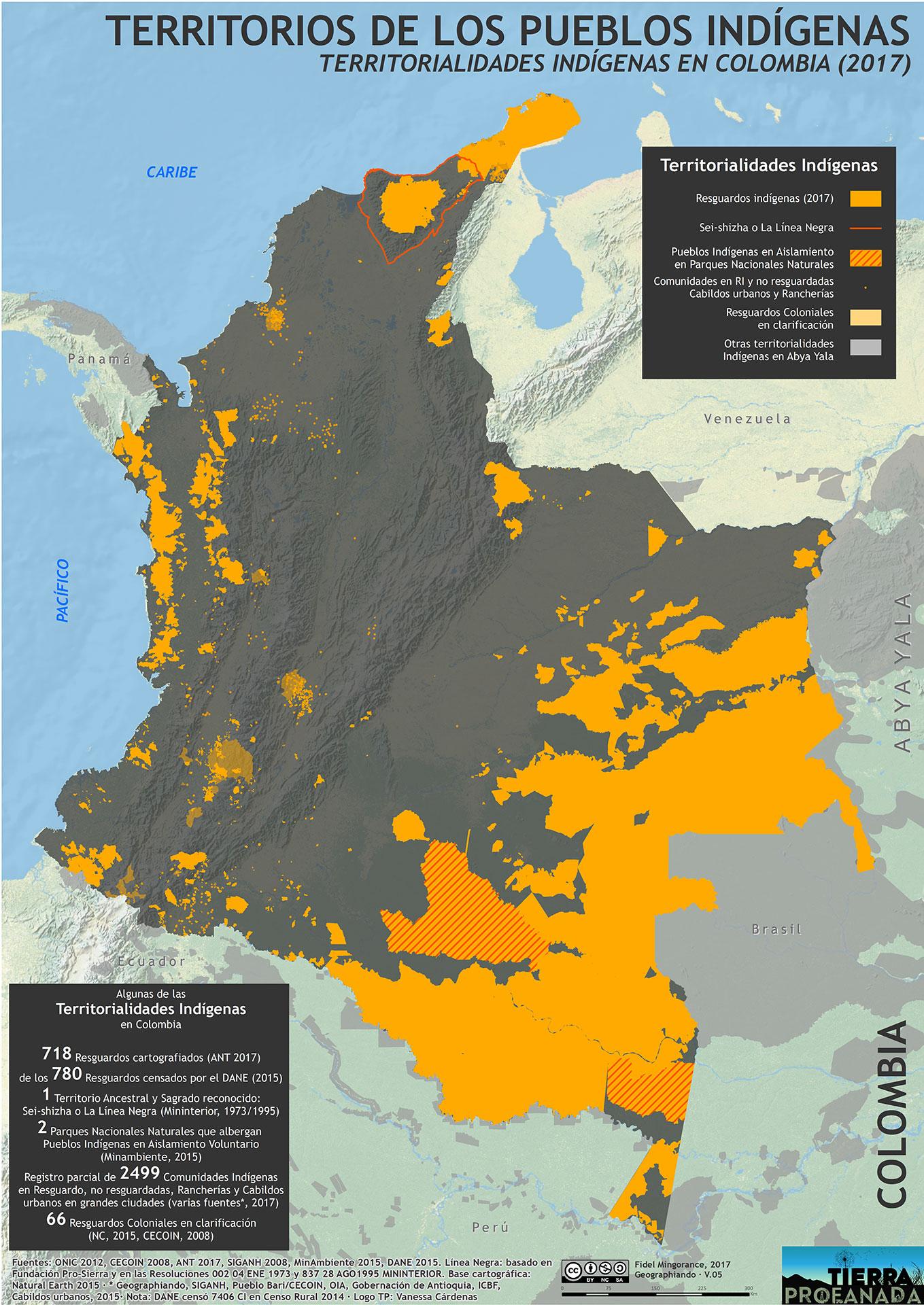 Territorios indigenas colombia 2017