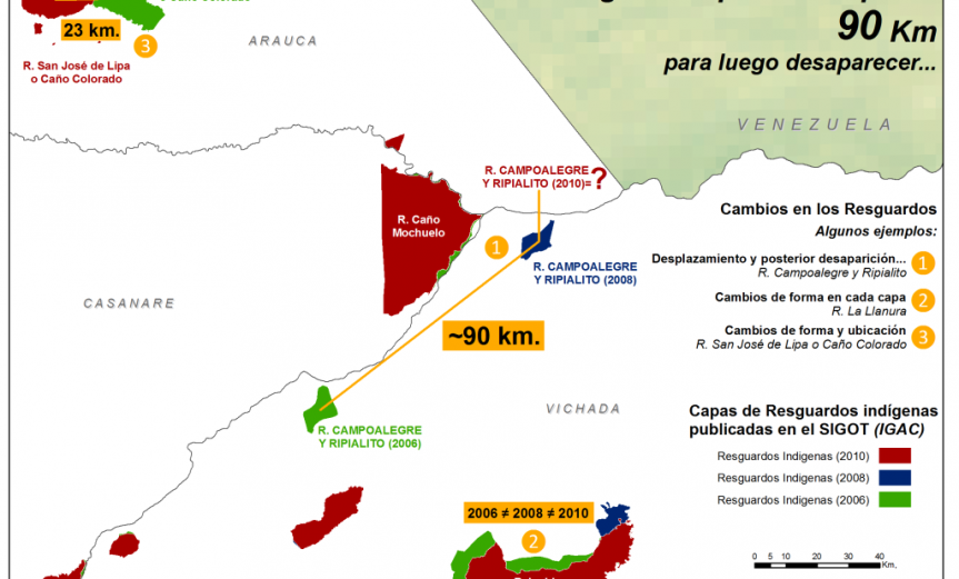 resguardo indígena que se movió 90 km