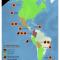 mapa de principales productores de cultivos ilícitos en América según ONUDC 2008-2010