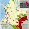 Mapa de los Planes de salvaguarda étnica de la Corte Constitucional de Colombia