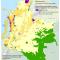 mapa de la afectación territorial de la ronda petrolera Open Round Colombia 2010