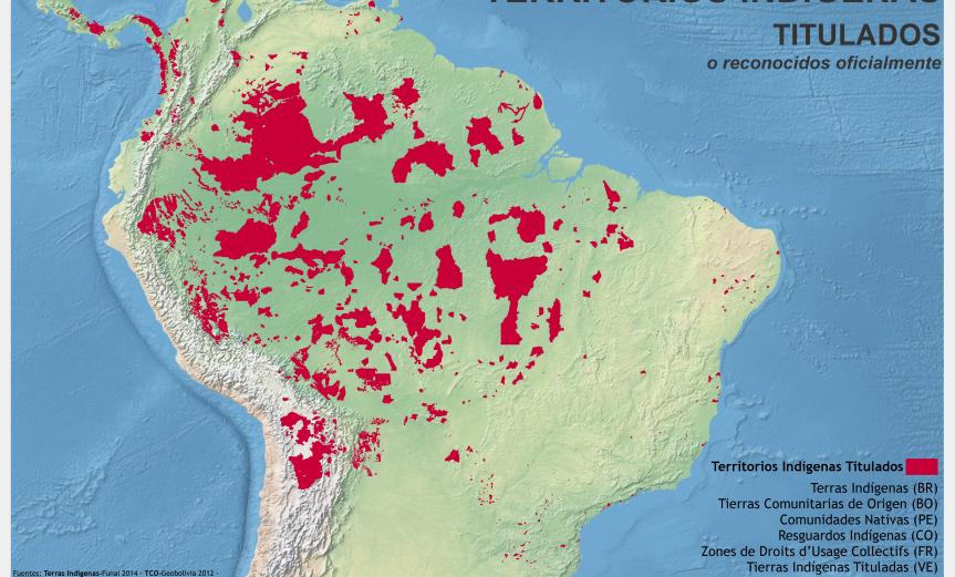 mapa de territorios indígenas titulados