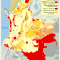 mapa de los Territorios Indígenas y áreas petroleras activas en diciembre de 2014