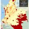 mapa de territorios indígenas y títulos mineros vigentes en Colombia 2012