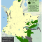 Mapa de cultivos de coca en Resguardos indígenas en Colombia 2007
