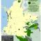 Mapa de cultivos de coca en Resguardos indígenas en Colombia 2008