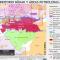 mapa del territorio Nukak y las áreas petroleras en Colombia en enero de 2015