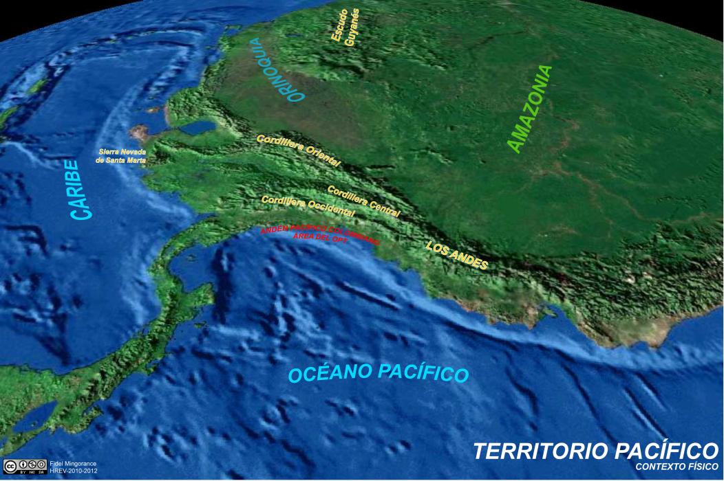 mapa físico del Territorio Pacífico 1