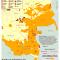 zoom al mapa de los Pueblos Indígenas en Riesgo de Extinción Demográfica y Cultural