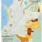 mapa de la población indígena en resguardos 2005, censo DANE Colombia