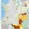 Mapa de la proyección de población indígena en Resguardos en Colombia 2012