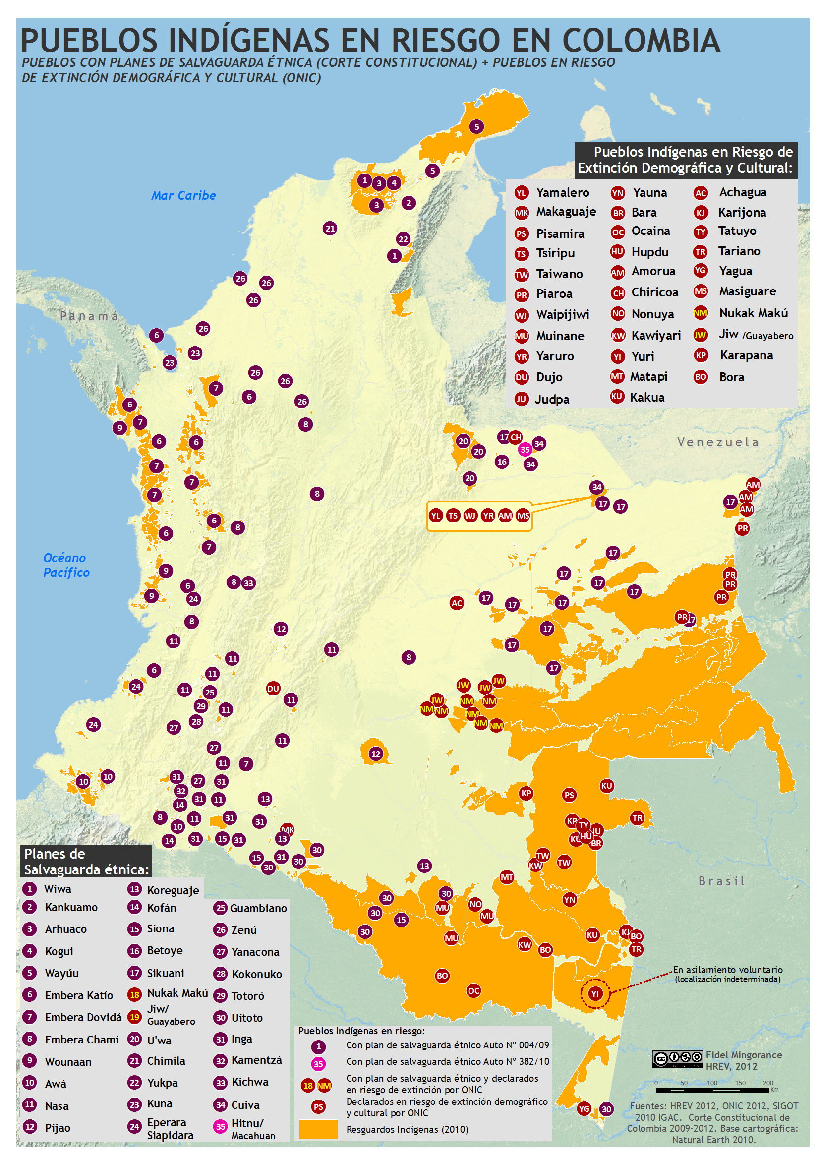Mapa Indigena De Colombia