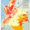 mapa de la piñata minera: Solicitudes mineras 2010 y territorios indígenas en Colombia