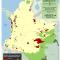 Mapa de la evolución de los cultivos de coca en Resguardos Indígenas en Colombia 2010-2011