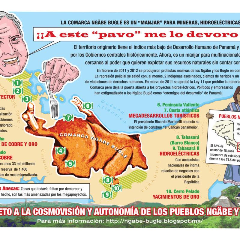 03. 'El pavo'. Proyectos minero-energéticos en la Comarca Ngäbe-Buglé