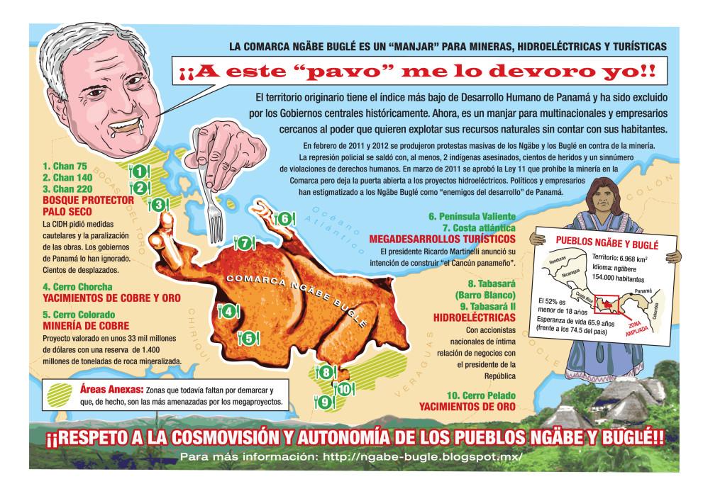 Morfomapa de minería e hidroeléctricas en la Comarca Ngäbe-Buglé