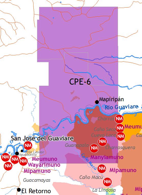 Actividad petrolera en Territorio Nükak