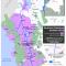 Mapa de los territorios colectivos titulados en el Medio Atrato, 2012