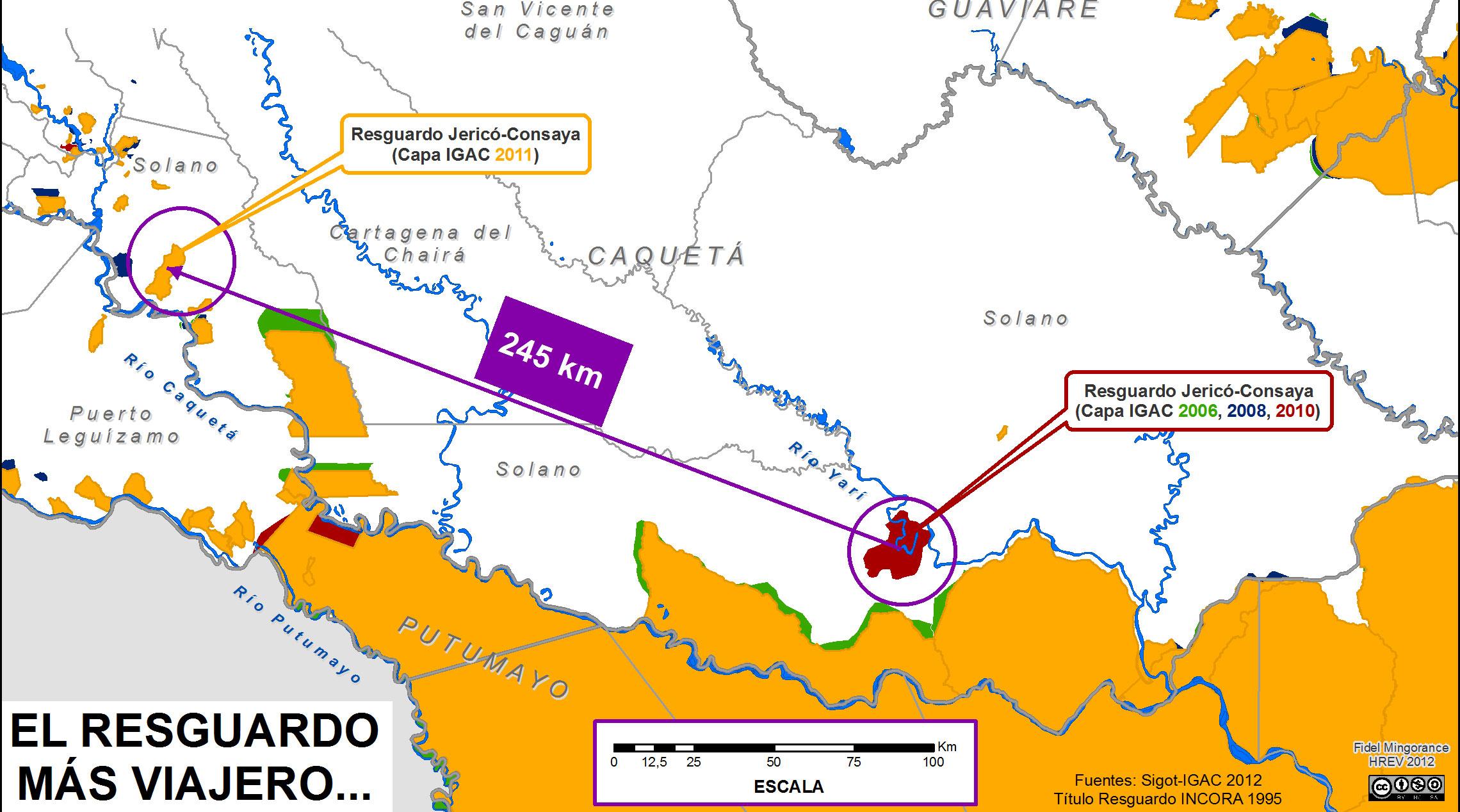 El Resguardo Indígena más viajero: ¡245 km!