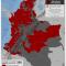 mapa de municipios con actividad paramilitar en Colombia en 2014