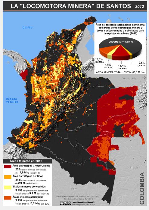 mapa de la locomotora minera de Santos en 2012