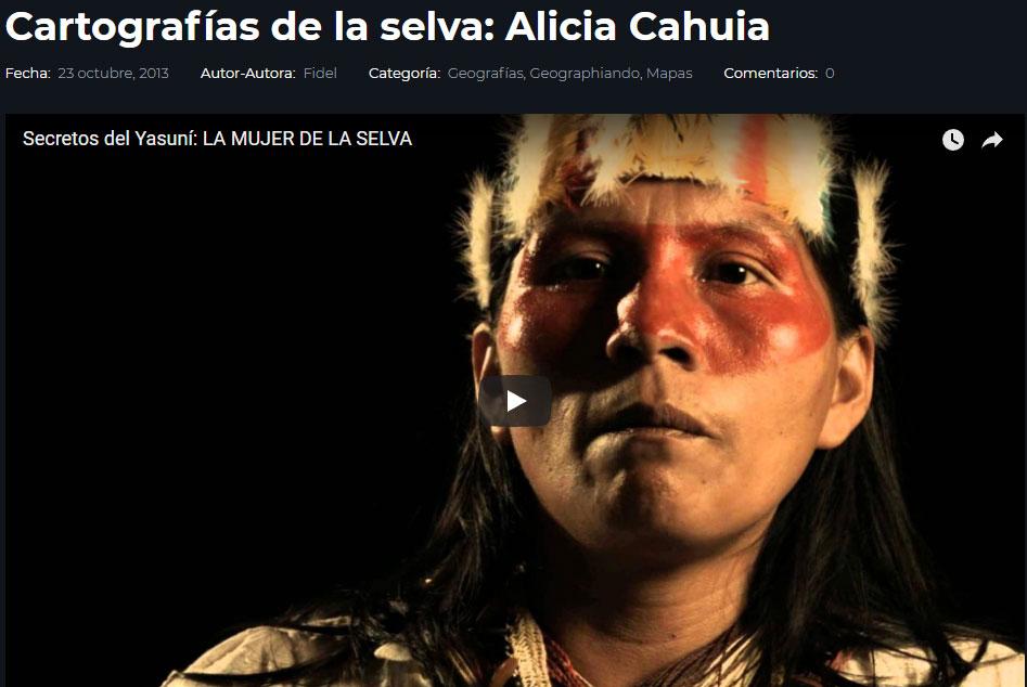 Cartografías de la selva: Alicia Cahuia