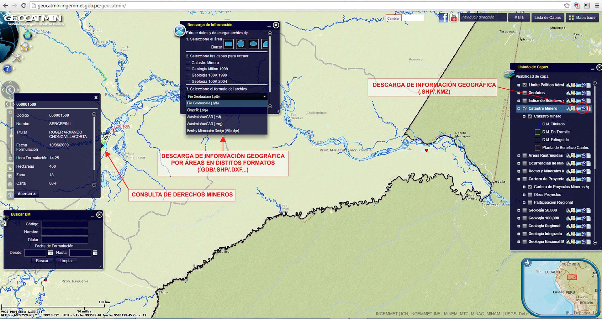 Información geográfica minera