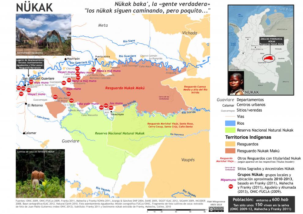 mapa de ubicación nükak 2010-2013