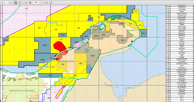 Mapa inventario de la ANH. El mapa on line está perfecto para hacer consultas (Gesoservidor ANH)