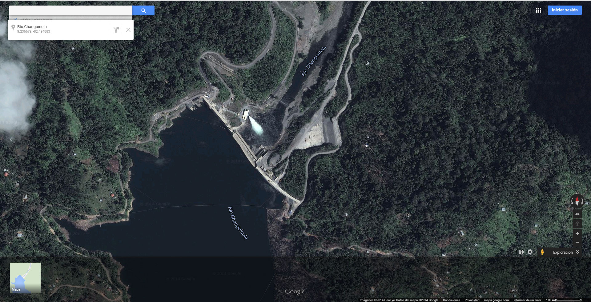 Represando Panamá #3: captura de coordenadas desde mapas en internet