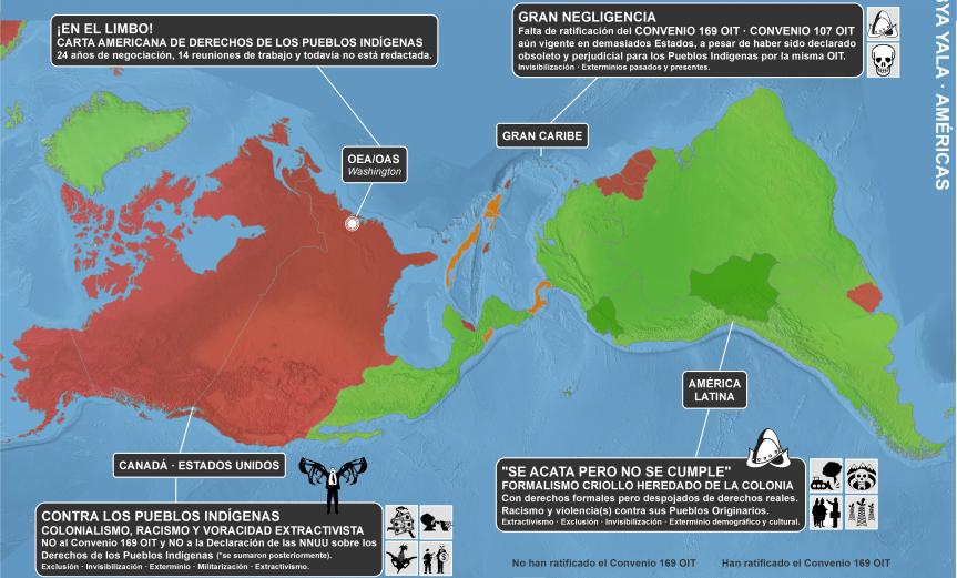 mapa crítico de derechos de los pueblos indígenas en 20015