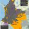 mapa de la extracción de hidrocarburos y Territorios Indígenas en Colombia en octubre de 2015