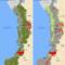 Mapa de los Títulos Mineros y afectaciones a Territorios Colectivos en diciembre de 2015 en el Pacífico colombiano