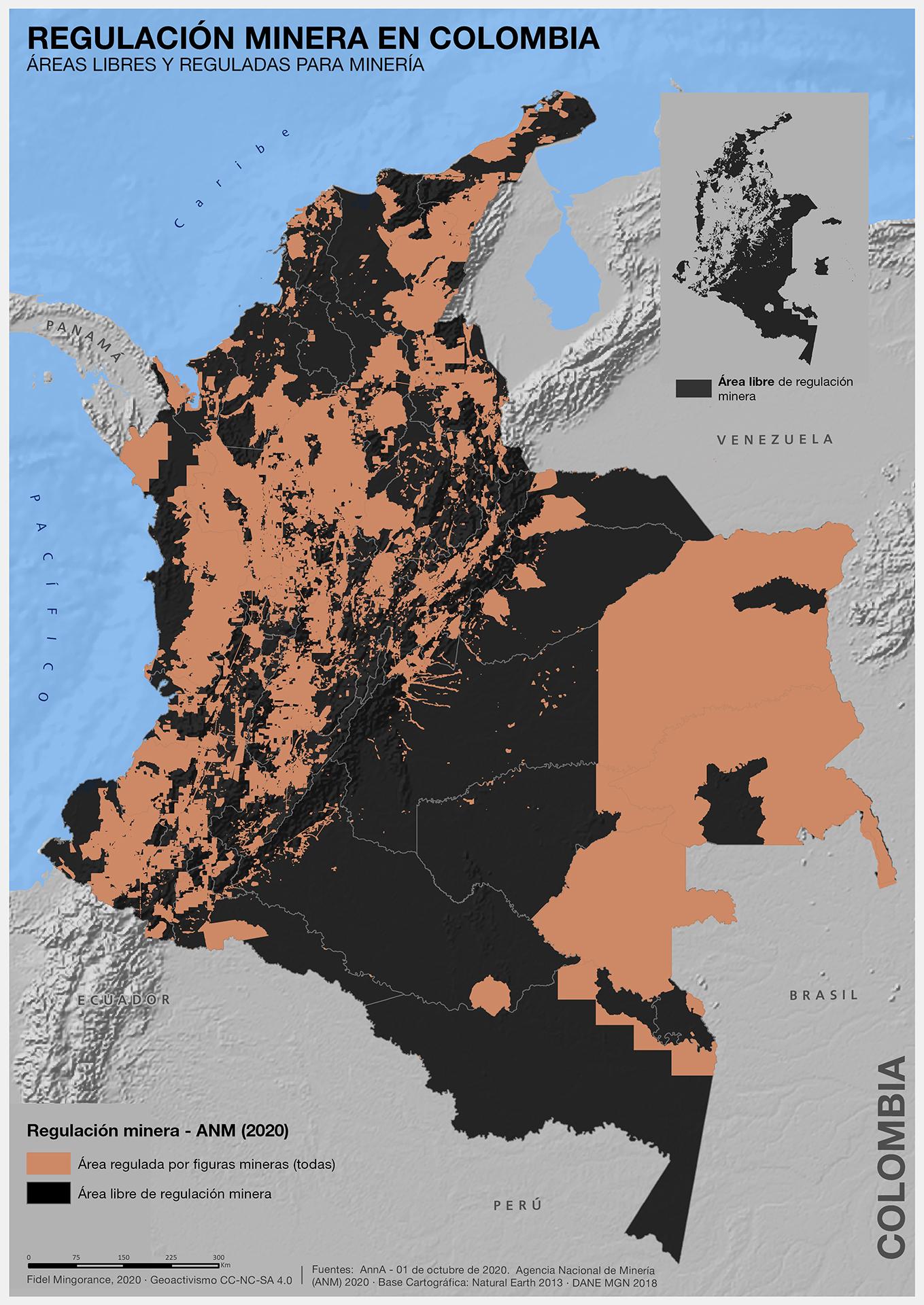 El mapa de la minería en Colombia en los años 20