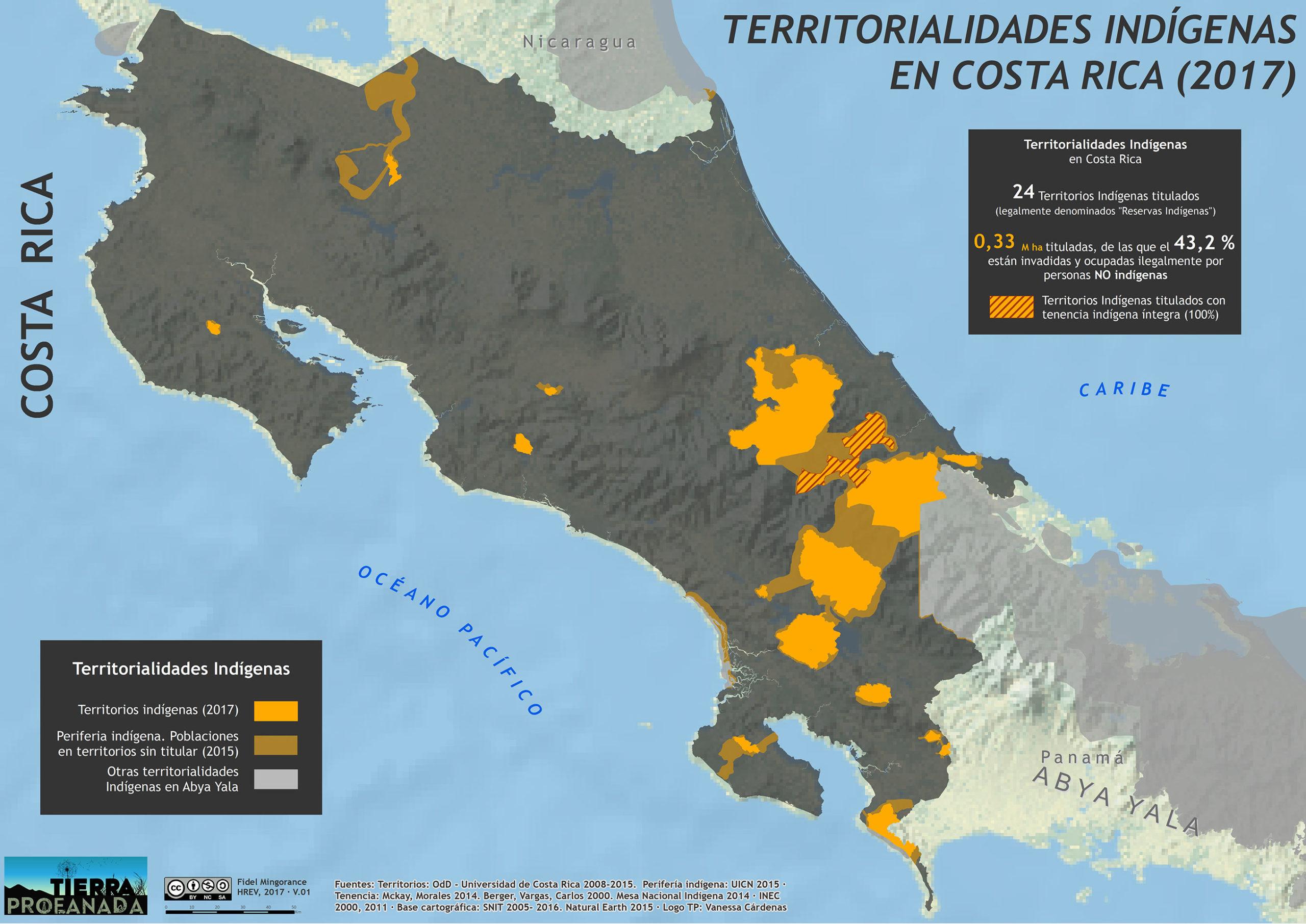 Territorialidades indigenas en Costa Rica (2017)