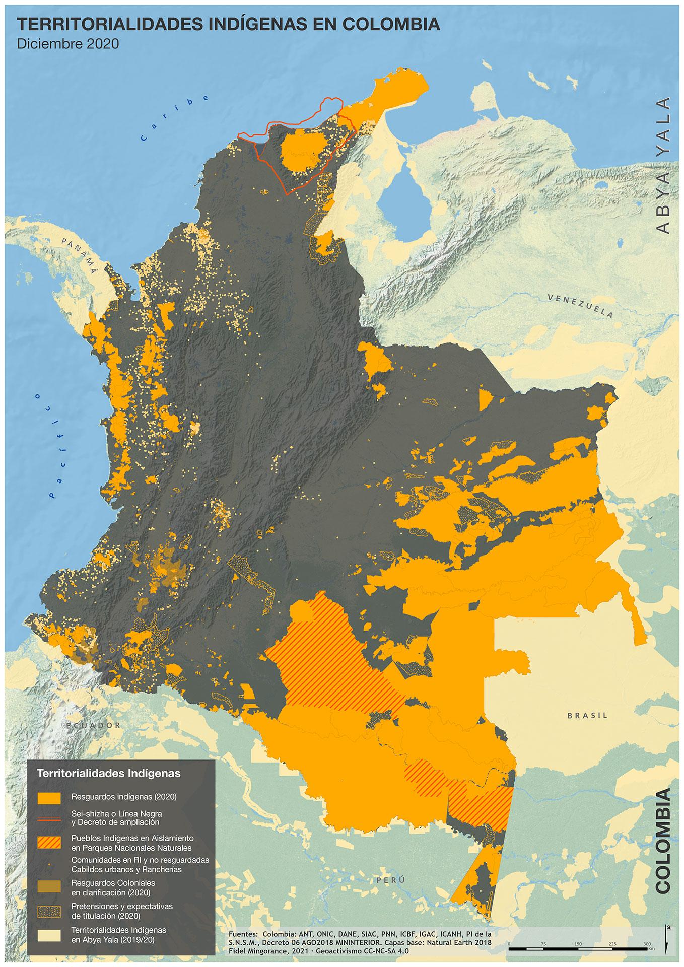 Territorios indígenas en Colombia (2020)